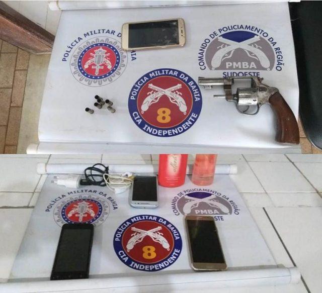 8ª CIPM: Polícia Militar recupera celulares, moto roubada e prende autor do crime em Ibicuí