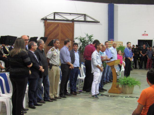 Polícia Militar se faz presente na solenidade de abertura da exposição de Itapetinga