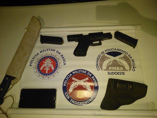 Itororó: Polícia Militar prende indivíduo armado com pistola .380 e evita tragédia durante evento