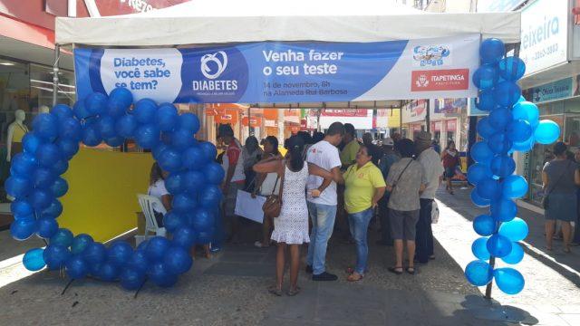 Itapetinga: Prefeitura leva Educação em Saúde no Dia Mundial contra Diabetes
