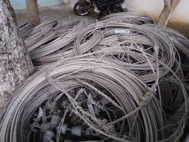Itororó: Homem é preso em flagrante furtando cabos de alumínio com ferro, de rede de alta tensão