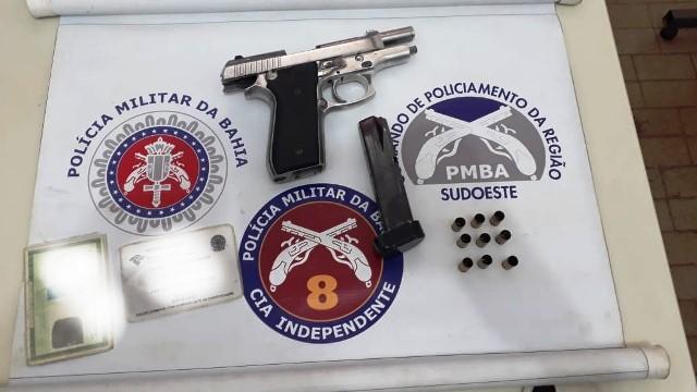 Ibicuí: PM prende indivíduo com  pistola calibre .380