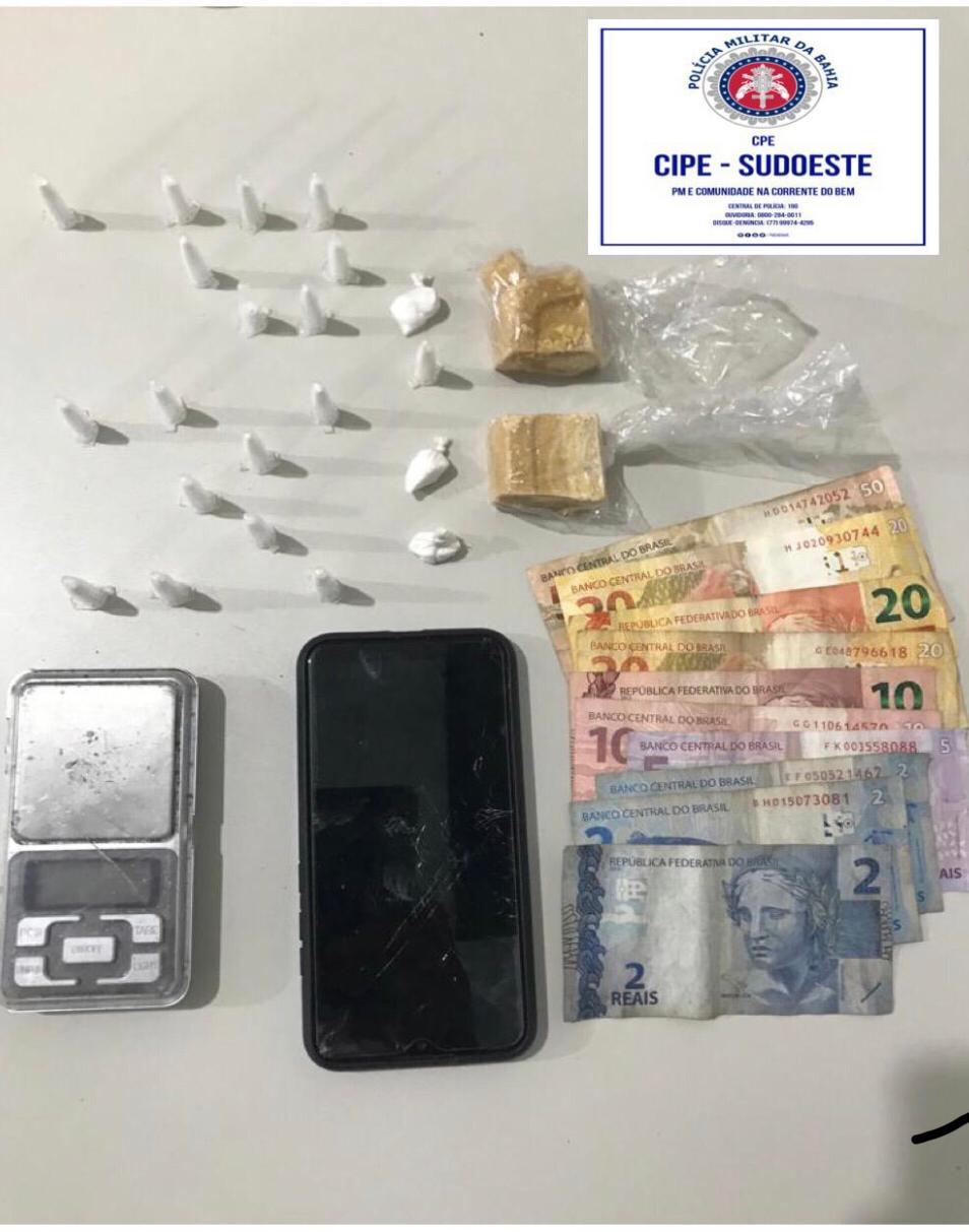 Itapetinga: Homem é preso em flagrante traficando drogas na Avenida das indústrias