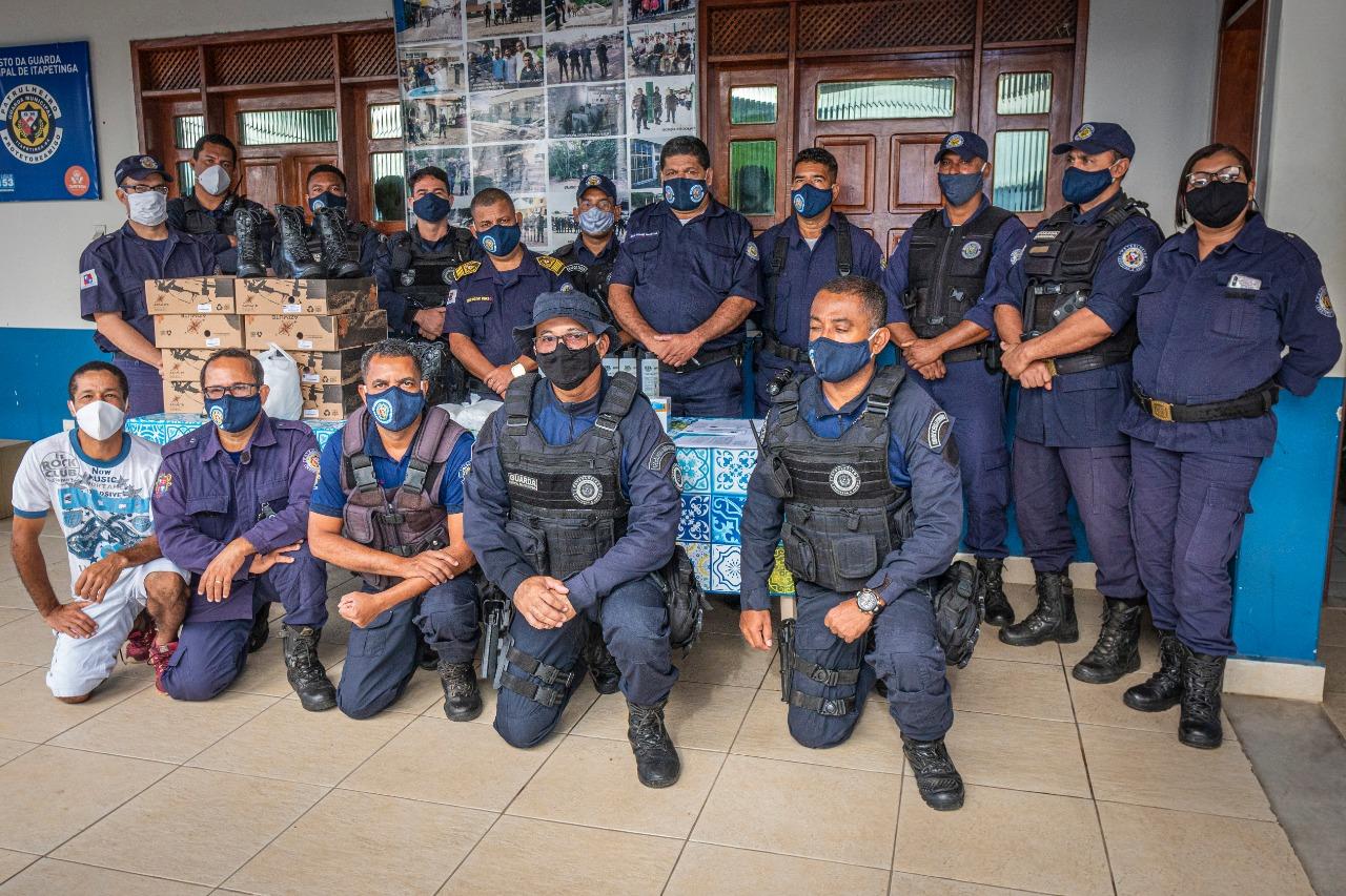 Guarda Municipal de Itapetinga/BA recebe EPI's do ministério da justiça para o enfrentamento da pandemia