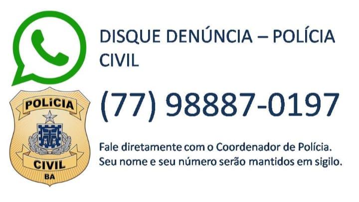 Polícia Civil de Itapetinga reativa o seu Disque Denúncia.