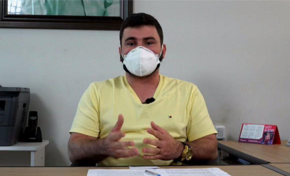 Itapetinga: Em live, Secretário de Saúde fala sobre ações e fim da barreiras sanitárias