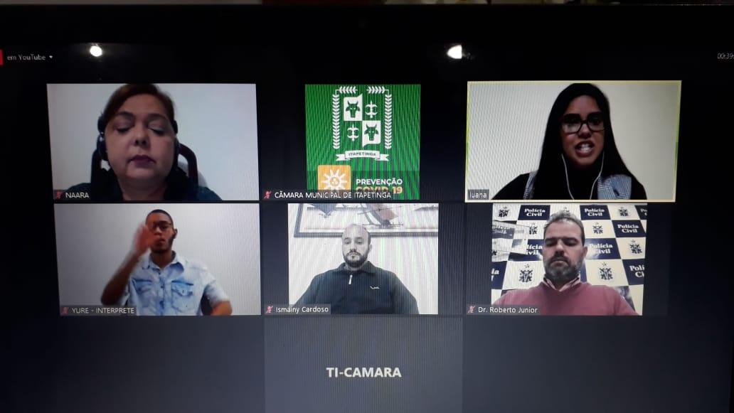 Itapetinga: Confira a sessão virtual desta quinta-feira, 03 de setembro