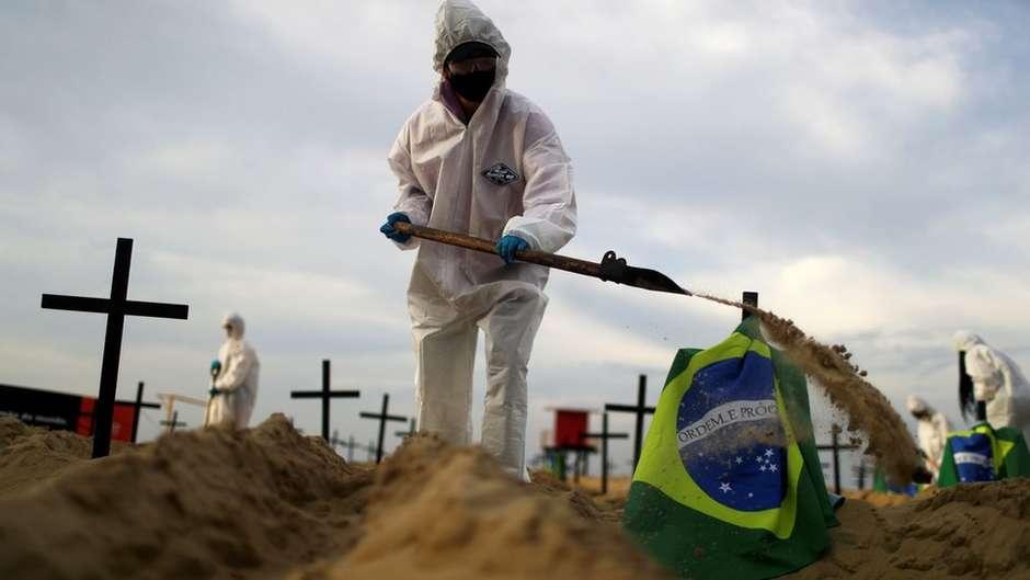 Brasil registra 1.194 novas mortes por covid-19 em 24 horas