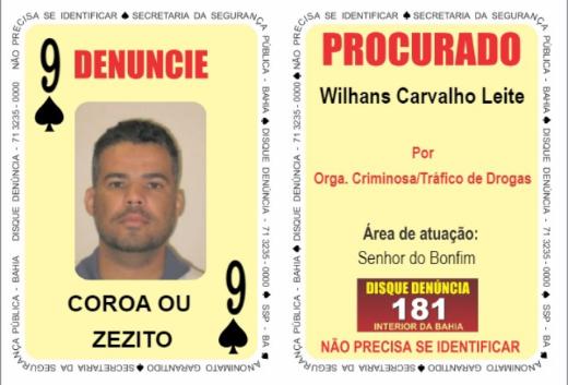 Bahia: Última atualização do Baralho do Crime em 2020 inclui líder de facção