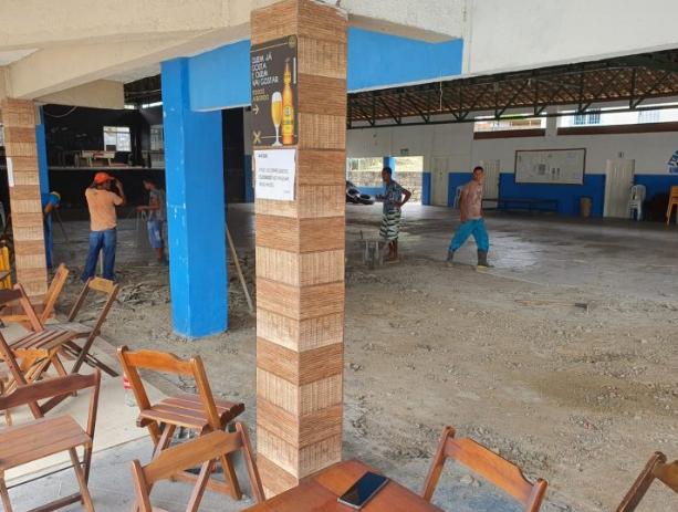 Itapetinga: Salão Social do ITC Ganha Novo Visual, Co Piso em Porcelanato