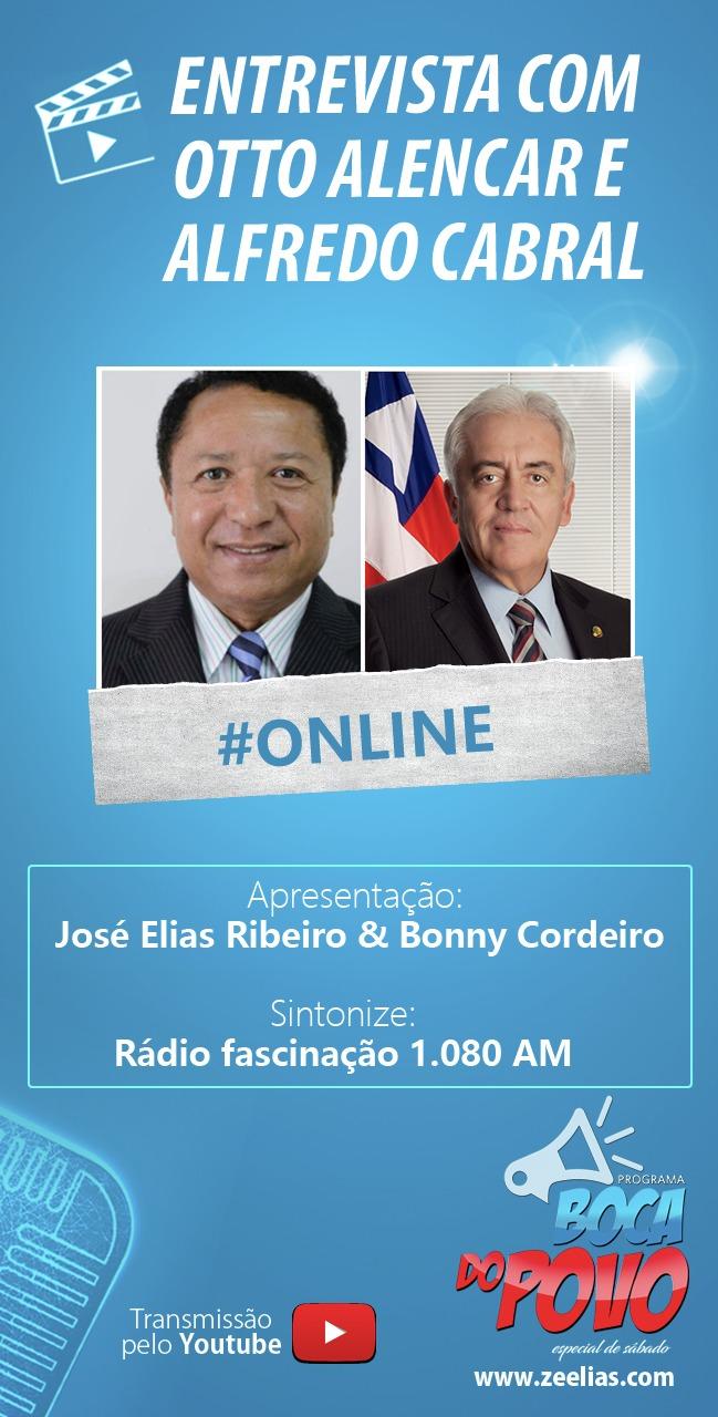 Itapetinga: Senador Otton Alencar e Alfredo Cabral  serão o entrevistados no programa na Boca do povo especial de sábado (13)
