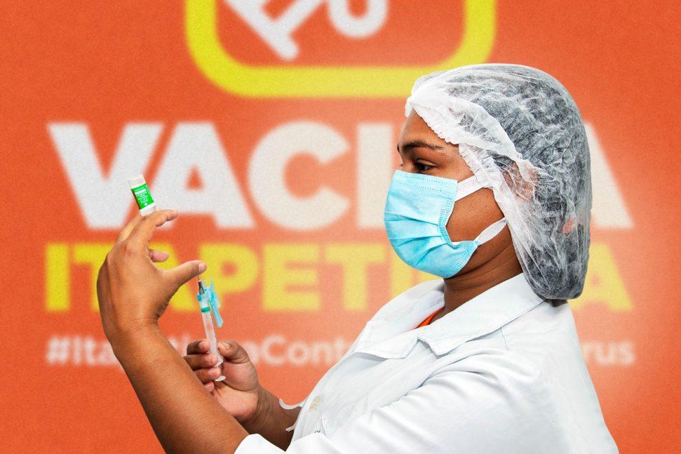 Itapetinga segue vacinando idosos acima de 80 anos contra Covid-19