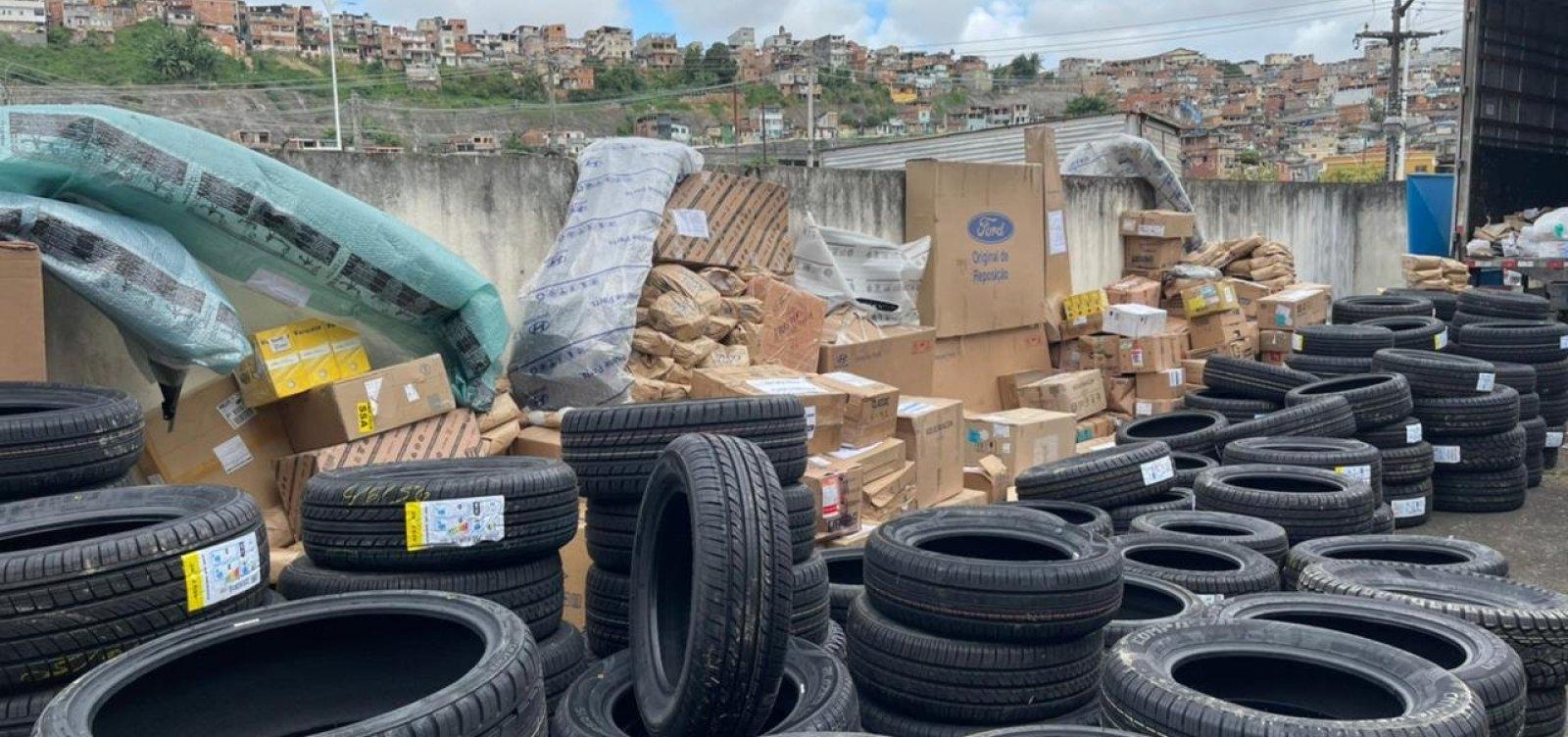 Polícia recupera carga de peças automotivas avaliada em R$ 1 milhão