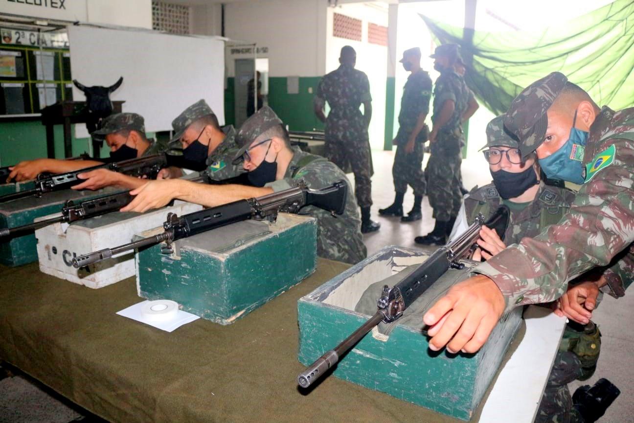 tiro de guerra de Itapetinga participa  de tiro de instrução básico no 35º batalhão de infantaria em feira de santana