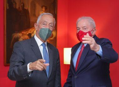 Em visita ao Brasil, presidente de Portugal se reúne com Lula antes de encontrar Bolsonaro